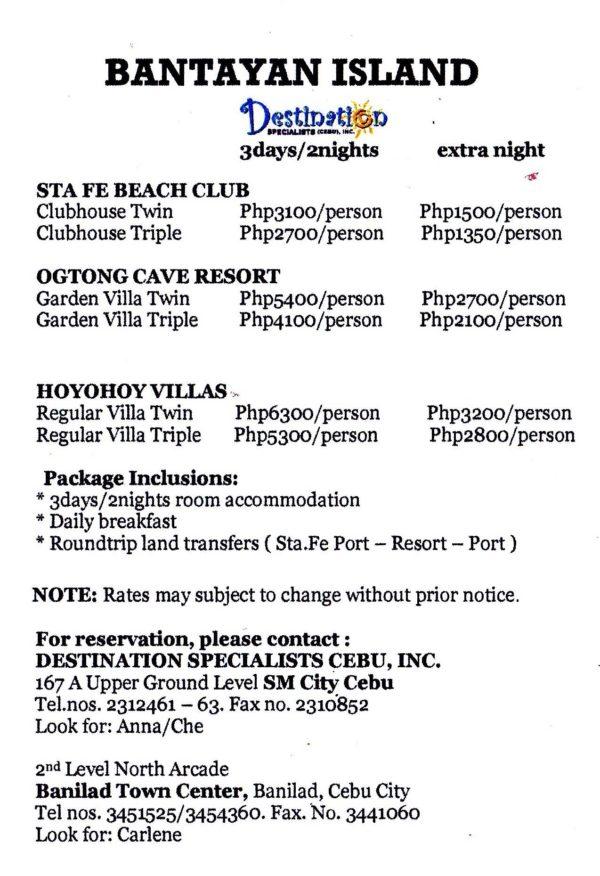 Bantayan Island Accommodations Destination Specialists