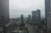 The view on the 10th floor of COEX Mall