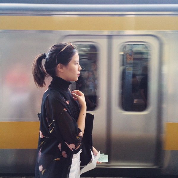 Waiting for the train by @
