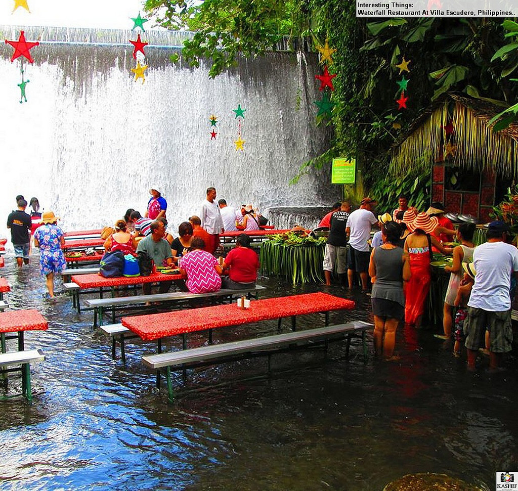 Villa Escudero Waterfall Restaurant photo